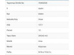 Hisar Mh. Limanyolu Üstü Satılık 265 M2 Köşebaşı Arsa